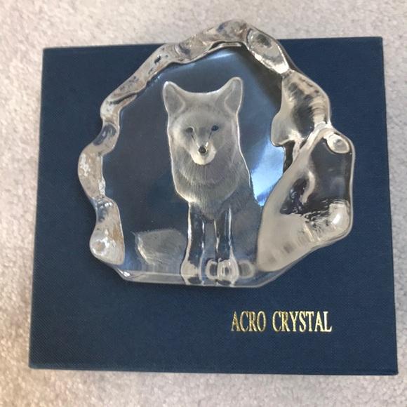 🐥4/$30🐥 Vintage crystal paperweight